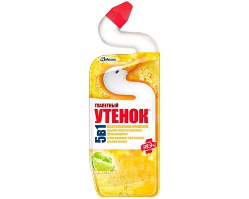 Средство чистящее для кафеля и сантехники 5в1 Цитрус (500мл), Туалетный Утенок