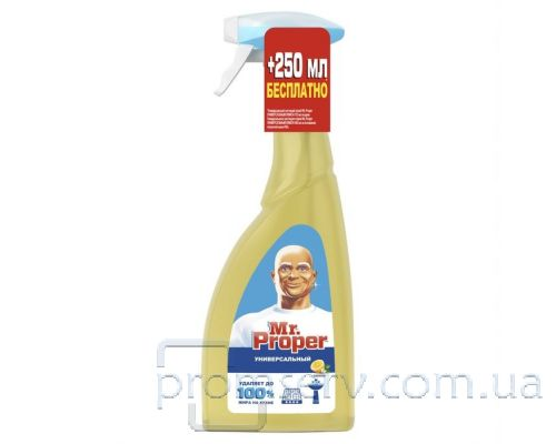 Средство чистящее универсальное Лимон с распылителем (750мл), Mr. Proper