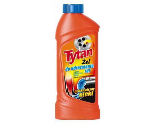 Средство для прочистки труб Активный гель 1л Tytan