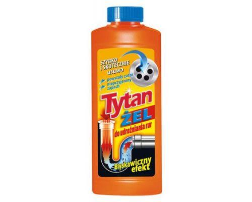 Средство для прочистки труб Активный гель (500мл), Tytan