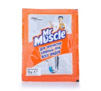 Средство для прочистки труб, гранулы (70г), Mr. Muscle