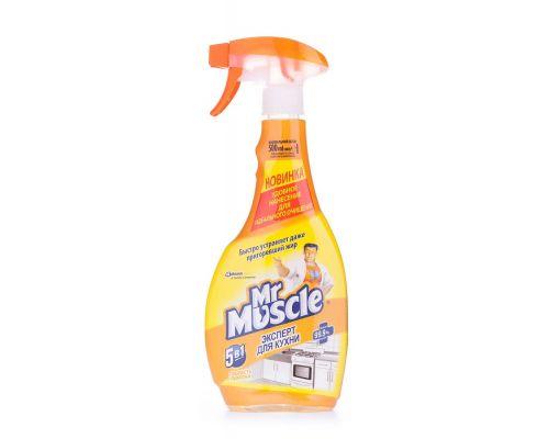 Средство чистящее для кухни Свежесть лимона с распылителем (500мл), Mr. Muscle