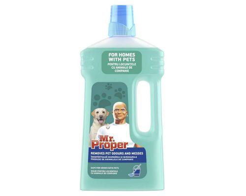 Средство моющее для пола и стен универсальное Уход после домашних животных (1л), Mr. Proper
