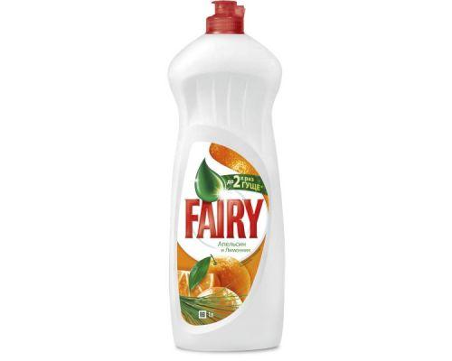 Средство моющее для посуды Апельсин и лимонник, флип (1л), Fairy