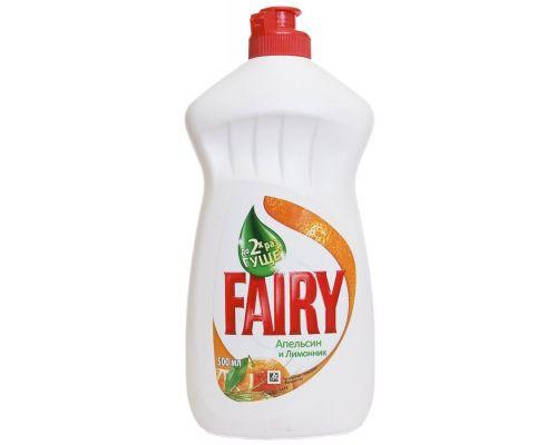 Средство моющее для посуды Апельсин и лимонник, флип (500мл), Fairy