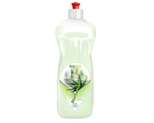 Средство моющее для посуды бальзам и алоэ вера, пуш-пул (1л), EcoMax