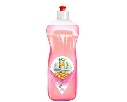 Средство моющее для посуды бальзам и витамин Е, пуш-пул (1л), EcoMax