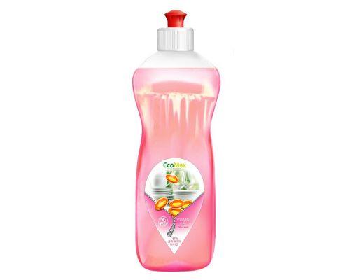 Средство моющее для посуды бальзам и витамин Е, пуш-пул (500мл), EcoMax
