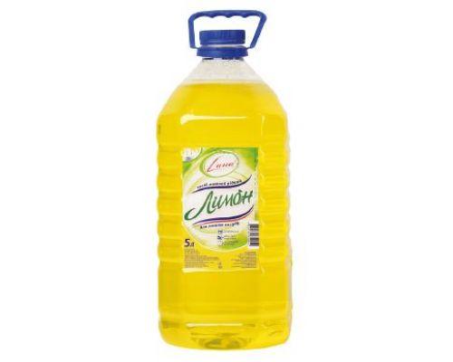 Средство моющее для посуды лимон (5л), Сана
