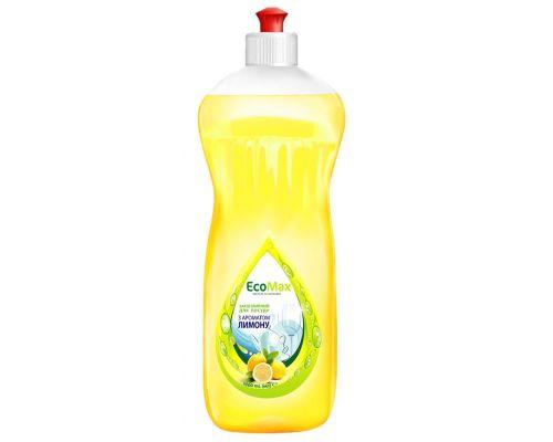 Средство моющее для посуды лимон, пуш-пул (1л), EcoMax