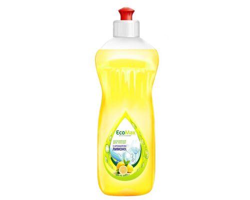 Средство моющее для посуды лимон, пуш-пул (500мл), EcoMax
