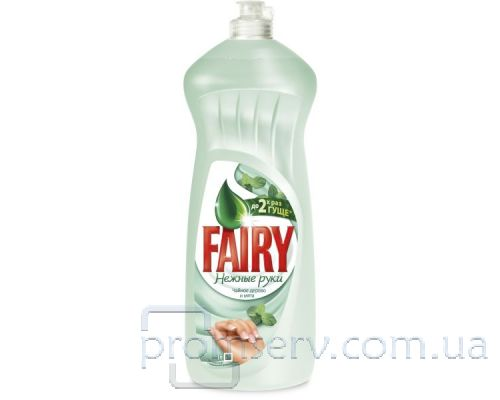 Средство моющее для посуды Нежные руки, Чайное дерево и мята, флип (1л), Fairy