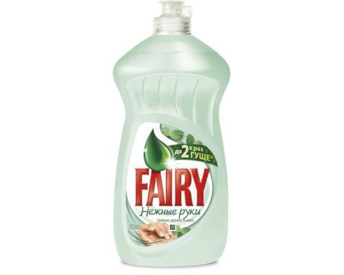 Средство моющее для посуды Нежные руки, Чайное дерево и мята 500мл Fairy