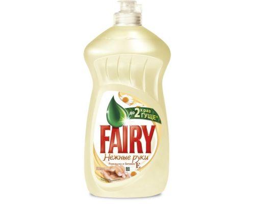 Средство моющее для посуды Нежные руки, Ромашка и витамин Е 500мл Fairy