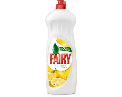 Средство моющее для посуды Сочный лимон, флип (1л), Fairy
