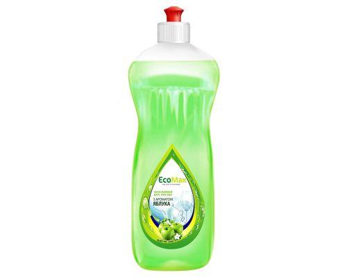 Средство моющее для посуды яблоко, пуш-пул (1л), EcoMax