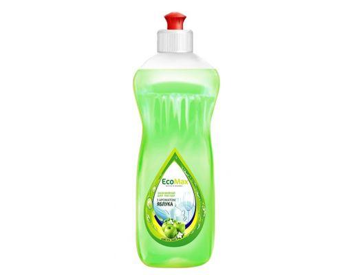 Средство моющее для посуды яблоко, пуш-пул (500мл), EcoMax