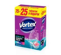 Таблетки для посудомоечной машины бесфосфатные all in 1 (100шт), Vortex