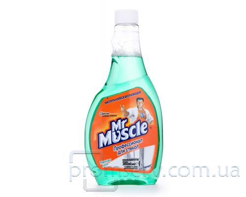 Средство для стекл и зеркал с нашатырн.спиртом Утренняя роса, запаска (500мл), Mr. Muscle