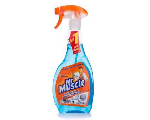 Средство для стекл и зеркал со спиртом После дождя с распылителем (500мл), Mr. Muscle