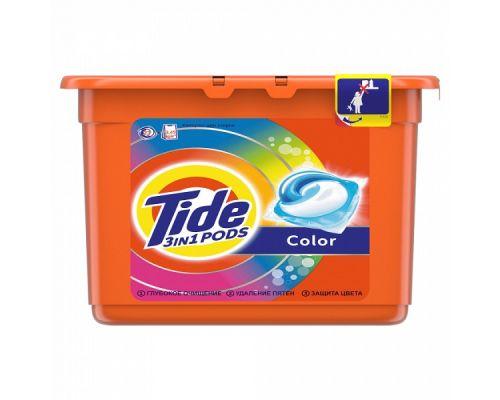 Капсулы-гель для стирки Color (22,8г*23шт), Tide