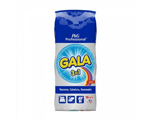 Порошок для стирки автомат 3в1 Яркие цвета (15кг), Gala