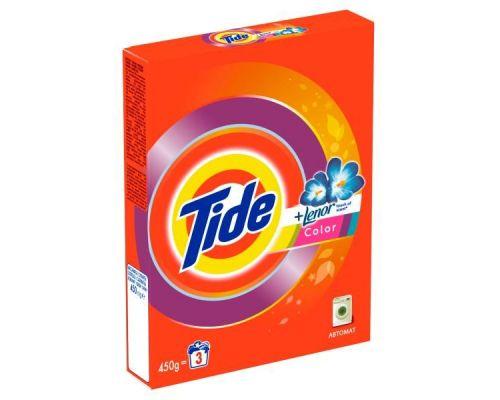 Порошок для стирки автомат Color Lenor Scent (450г), Tide