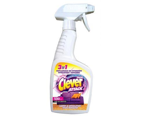 Средство от пятен для чистки ковров с распылителем CLEVER ATTACK (550мл)