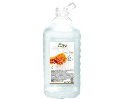 Крем-мыло жидкое мед-молоко, ПЭТ (5л), Ecolan