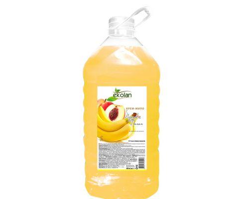 Крем-мыло жидкое персик-банан, ПЭТ (5л), Ecolan