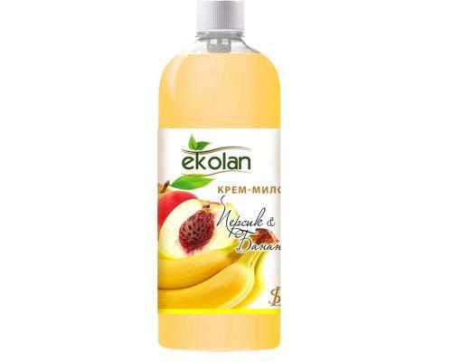 Крем мыло жидкое персик банан запаска 500мл Ecolan