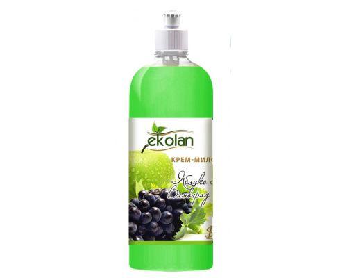 Крем мыло жидкое яблоко виноград пуш-пул 1л Ecolan