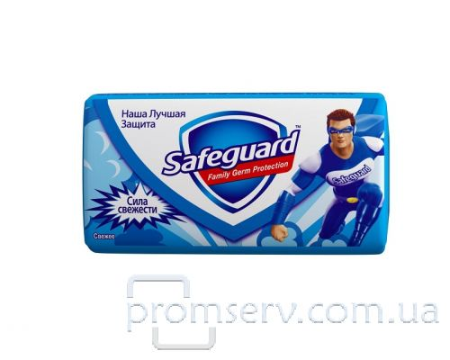 Мыло туалетное твердое Сила свежести (90г), Safeguard