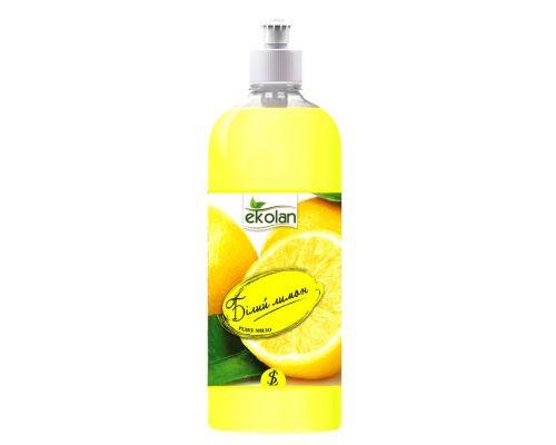 Мыло жидкое белый лимон, пуш-пул (1л), Ecolan