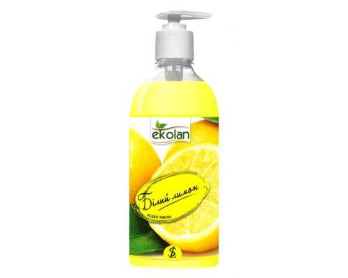 Мыло жидкое белый лимон с дозатором 500мл Ecolan