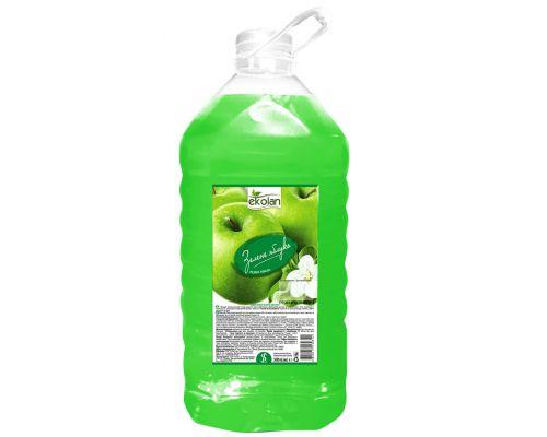 Мыло жидкое зеленое яблоко, ПЭТ (5л), Ecolan