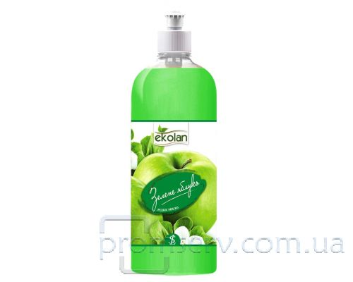 Мыло жидкое зеленое яблоко, пуш-пул (1л), Ecolan
