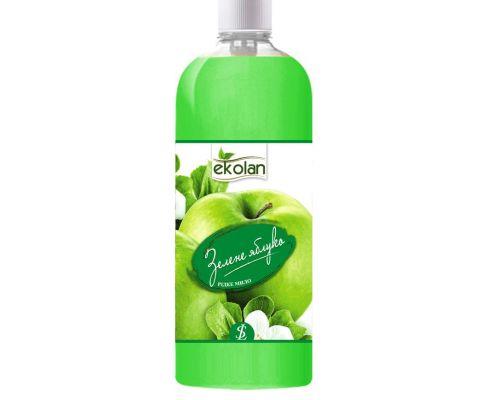 Мыло жидкое зеленое яблоко, запаска (500мл), Ecolan