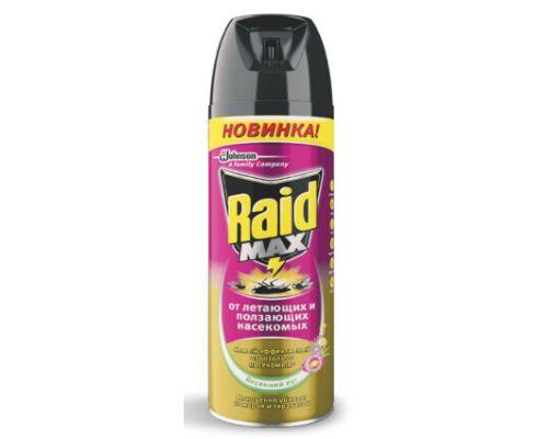 Средство от летающих и ползающих насекомых аэрозоль Весенний луг (300мл), Raid 648952