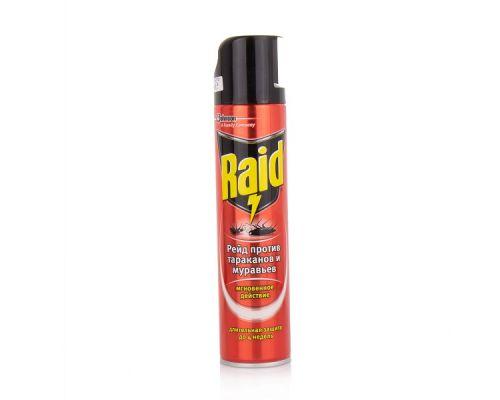 Средство от тараканов и муравьев 3в1 аэразоль 300мл Raid Max