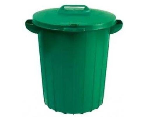 Бак мусорный с крышкой пластик (90л), CUR 2974