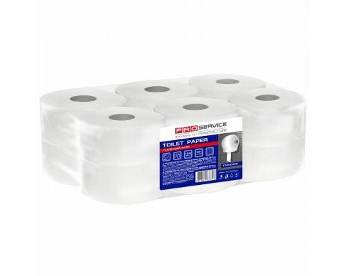 Бумага туалетная белая 1-но сл., 200м (12рул/уп), PROservice Standart