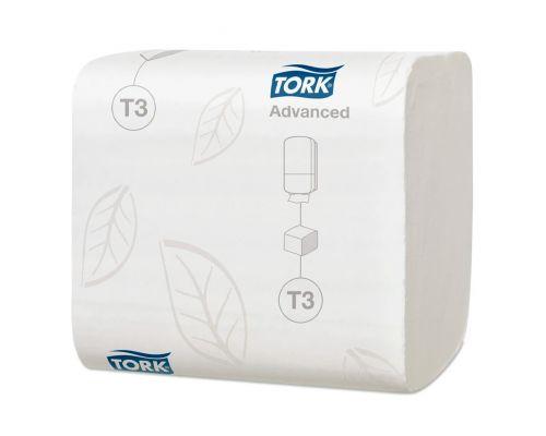 Бумага туалетная листовая Advanced T3, 2-х сл., 242л, Tork 114271