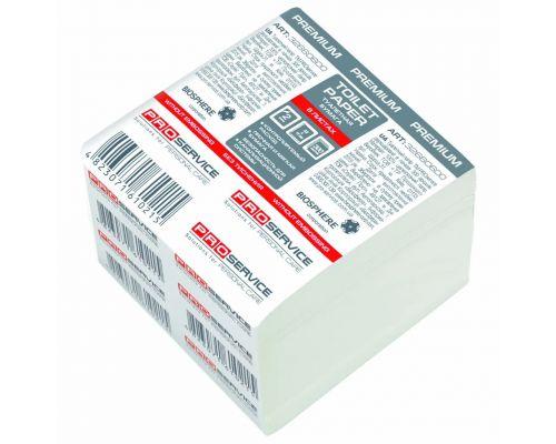 Бумага туалетная листовая белая 2-х сл., (300л/уп), PROservice Premium
