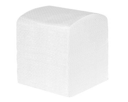 Бумага туалетная листовая V белая 2-х сл., (150л/уп), Papero
