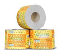 Бумага туалетная макулатурная Веселый размер на гильзе 1-но сл., серая (90*125/33), Кохавинка