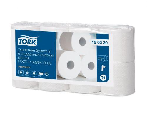 Бумага туалетная рулон. Premium T4 белая 2-х сл., 23м, Tork 120320