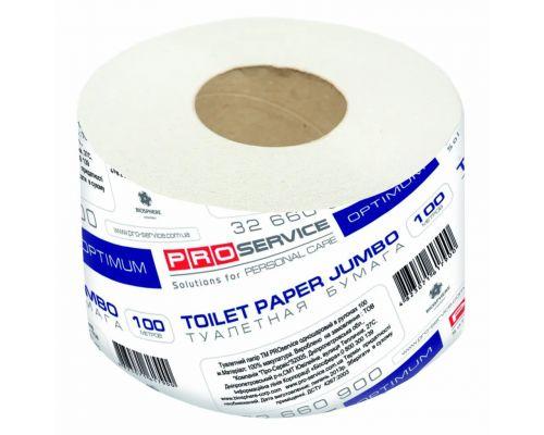 Бумага туалетная серая 1-но сл., 100м (16рул/уп), OPTIMUM