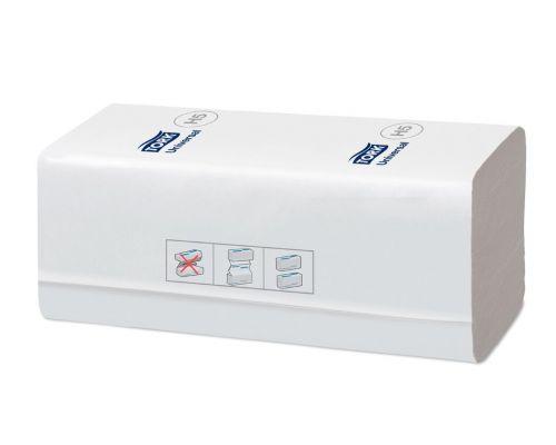 Полотенца бумаж. листовые Universal H5 с непрер. подачей белые 1-но сл., 410л, Tork PeakServe 100585