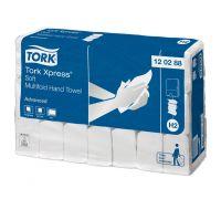 Полотенца бумажные листовые мягкие Advanced H2, Z белые 2-х сл., 136л, Tork Xpress 120288